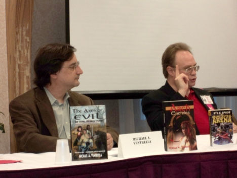 Ryk and I on a panel together at Albacon 2010